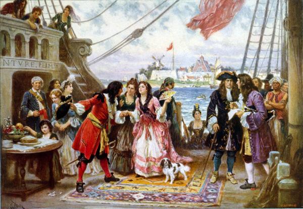 Women onboard ship