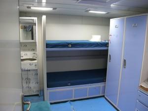 Clean crew cabin